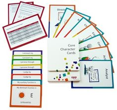 New type resource for practitioners - core character cards - MBTI types - Myers Briggs