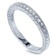 Diamond 20CT Vintage Wedding Ring Band Milgrain 14 by Pompeii3, $269.00