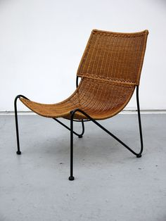 Frederick Weinberg - Rare Wicker Lounge Chair - two columbia roadtwo columbia road