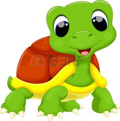 Illustration of Cute turtle cartoon vector art, clipart and stock vectors. Cute Turtle Cartoon, Cute Cartoon, Turtle Quilt, Turtle Images, Tortoise Turtle, Cute Clipart, Rock Clipart, Cute Turtles, Turtle Love