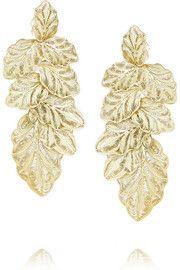 + Joyas Fio gold-plated filigree earrings