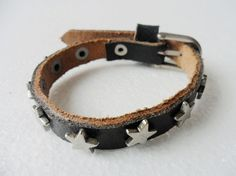 Adjustable Black Leather and Alloy Buckle by beautiful365 on Etsy, $5.00