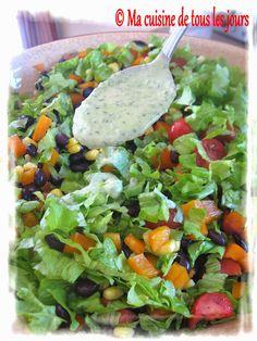 Ma cuisine de tous les jours: Salade du sud-ouest avec vinaigrette maison aux fines herbes