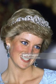 HRH DIANA wearing the Spenser Tiara