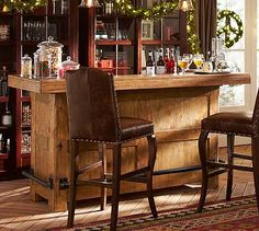 Would love this Bar in our basement eventually.  Rustic Ultimate Bar - Large #potterybarn