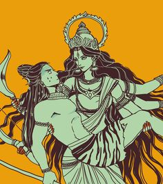 """""""Let me protect you"""" by yang yi (mmmmmr) on DeviantArt. (Shiva and Durga)"""