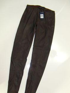 NWT $298 Womens Ralph Lauren Coated Faux Leather Distressed Leggings Pants 28  #RalphLauren #Leggings