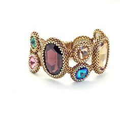 Swarovski Stone Bracelet FREE SHIPPING (Luxury Handmade Beaded Bracelet with Swarovski Stone)