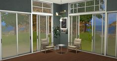 Sims 4 CC's - The Best: Sunset Windows and Doors by Minc78