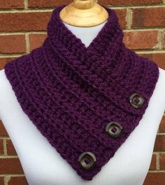 Boston Harbor Scarf Crochet Cowl Crochet Purple Cowl Chunky
