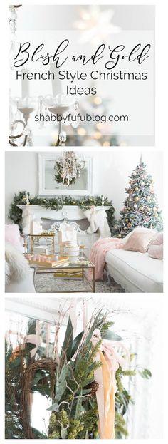 Christmas Home Tour Holiday Housewalk - Blush and Gold  #blushpink #ChristmasDecor #christmasdecorating