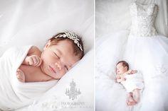 seu bebê e se vestido de noiva. que fofo!