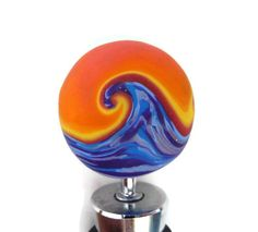 Polymer Clay Bottle Stopper Ocean Sunset by BeautifiedEssentials