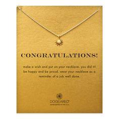 congratulations starburst necklace, gold dippedcongratulations starburst necklace, gold dipped