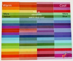 What do colours that are only a little bit warm or cool look like?  Here is an example