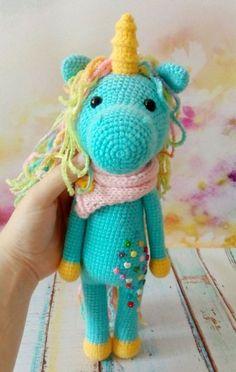 shy unicorn amigurumi crochet pattern