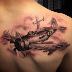 Home - Tattoo Spirit War Tattoo, Epic Tattoo, Badass Tattoos, Cool Tattoos, Daddy Tattoos, Tattoos Arm Mann, Cloud Tattoo Sleeve, Globe Tattoos, Airplane Tattoos