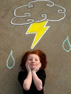 Sidewalk chalk pictures