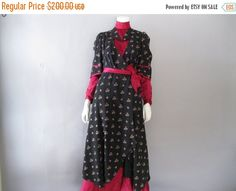 ON SALE Antique Maternity Dress - Rare  Edwardian Gown - Floral Print - Downton Abbey by ladyscarletts on Etsy https://www.etsy.com/listing/224806770/on-sale-antique-maternity-dress-rare