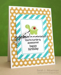 Creation by Sarah M for the Simon Says Stamp Bit O green challenge March 2013
