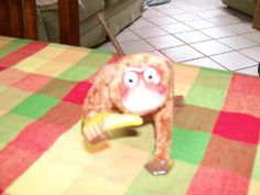 icollect247.com Online Vintage Antiques and Collectables - Antique Mechanical Monkey Mohair Body Antiques-Other