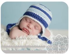 baby boy crochet hat... I like the color blocking on this one.