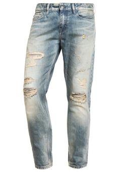 6b15b041cc1b Calvin Klein Jeans SLIM STRAIGHT - Jeans Slim Fit - destroyed denim -  Zalando.de