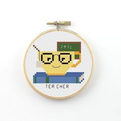 Tea cher Cross Stitch pattern teacher cross stitch…