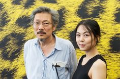 Hong Sang-soo (left) and Kim Min-hee