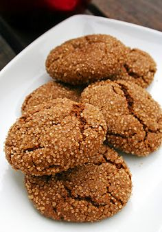 Gluten Free Vegan Spicy Ginger Cookies