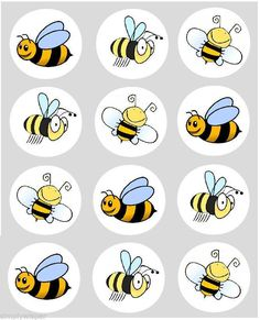 12 Bumble Bee Cupcake Decoration Edible Rice Paper Cake Toppers Pre Cut for sale online Edible Cupcake Toppers, Baby Shower Cupcake Toppers, Paper Embroidery, Embroidery Patterns, Bumble Bee Cupcakes, Bee Drawing, Rock Painting Patterns, Bee Crafts, Bee Art