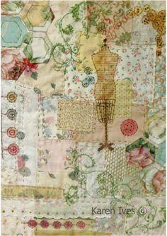 Vintage Stitch Patchwork and embroidery