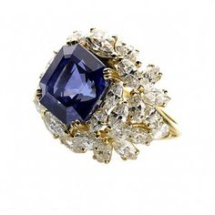 One of the world's finest jewelry. Alexandre Reza: A sapphire ring