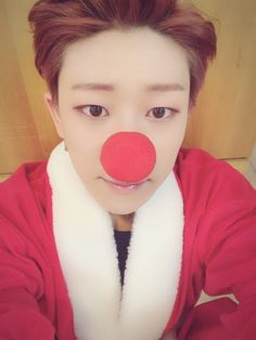Red hair, red nosed Minghao