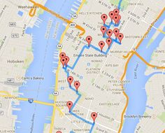 Mapped: The optimal walking tour of NYC