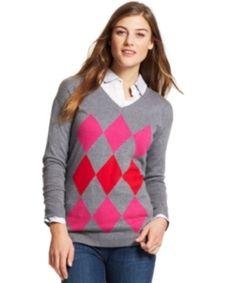 Tommy Hilfiger Women's Argyle V-Neck Grey Red Pink Sweater RETAIL $69.50 #TommyHilfiger http://www.ebay.com/itm/Tommy-Hilfiger-Women-039-s-Argyle-V-Neck-Grey-Red-Pink-Sweater-RETAIL-69-50-/181685736366?roken=cUgayN&soutkn=yFngw1 via @eBay