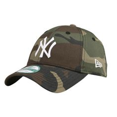 NEW ERA 940 CAMO BASIC CAP ❤ liked on Polyvore featuring accessories, hats, camouflage cap, caps hats, yankees hat, camouflage yankees hat and new york yankees hat