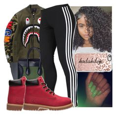 A fashion look from september 2016 by saditydej featuring adidas, cã‰line, Timbs Outfits, Outfits With Converse, Dope Outfits, Winter Outfits, Fashion Outfits, Timberlands, Winter Clothes, Winter Looks, Urban Fashion