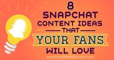 @mdjubairahmedhr : martinjonesaz : 8 Snapchat Content Ideas That Your Fans Will Love http://ift.tt/2bbs1SG https://t.co/7KhmBS0tFt) https://t.co/bctYguwL3l