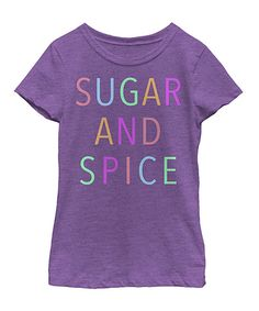 Take a look at this Fifth Sun Purple 'Sugar And Spice' Tee - Toddler & Girls today!