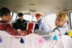 Suga, Jungkook, V, Jin