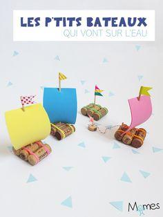 Impossible de faire plus fastoche que ces petits bateaux ! Découvrez comment réaliser des petits bateaux qui flottent avec de simples bouchons de liège.