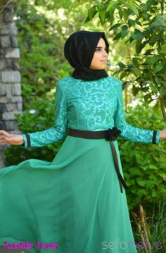 aramiss yeşil elbise modelleri
