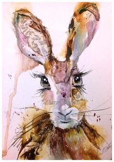 Fern Print & Giclee Prints by inspirestudiogallery on Etsy Watercolor Animals, Watercolor Paper, Watercolor Paintings, Watercolours, Animal Magic, Bunny Art, Happy Art, Pen Art, Animal Paintings