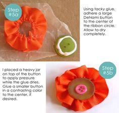 DeNami Design Blog: Ribbon Flower Tutorial by Emily