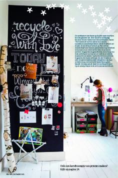Wand Keuken stok wikkelen met lichtjes