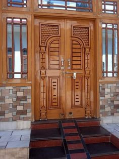 Wooden Main Door Design, Double Door Design, Gate Design, House Design, Luxury Homes Exterior, Country Modern Home, Door Design Interior, House Elevation, Double Doors