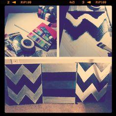 .@Jacqueline | Got in touch w/my #artsyfartsy side his wkend lol! #chevron #stripes #canvas ...