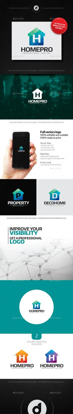 HomePro Logo (Editable letter) — Transparent PNG #brand #marketing • Available here → https://graphicriver.net/item/homepro-logo-editable-letter-/14763033?ref=pxcr