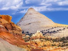 Capitol Dome Sandstone Mountain Capitol Reef National Park Utah Stock Image - Image of geology, sandstone: 50838909 Most Visited National Parks, National Parks Usa, Capitol Reef National Park, Stock Foto, Geology, Travel Usa, Monument Valley, Traveling By Yourself, Beautiful Places